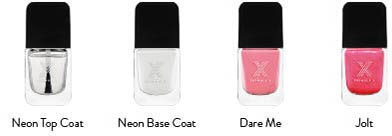 Neon top coat, Neon base coat, Dare me, Jolt